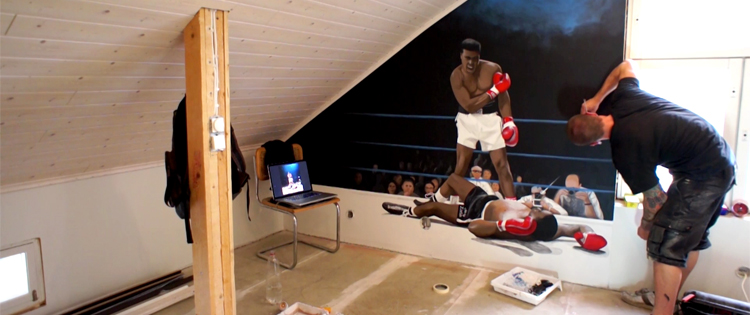 Muhammad Ali wall paint